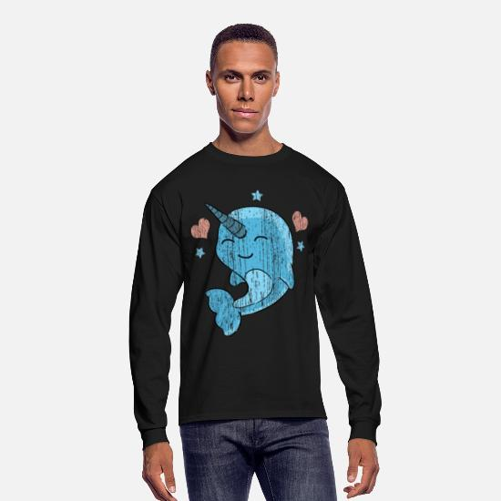 Narwhal Long-Sleeve Shirts - Narwhal - Men's Longsleeve Shirt black