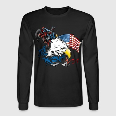 Patriotic Dirtbiker - Men's Long Sleeve T-Shirt