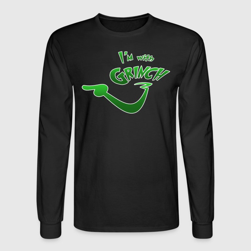 I'm with Grinch - Men's Long Sleeve T-Shirt