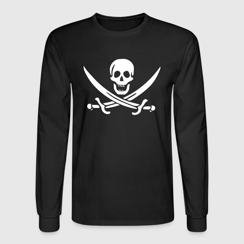 Pirate Flag Jack Rackham - Men's Long Sleeve T-Shirt