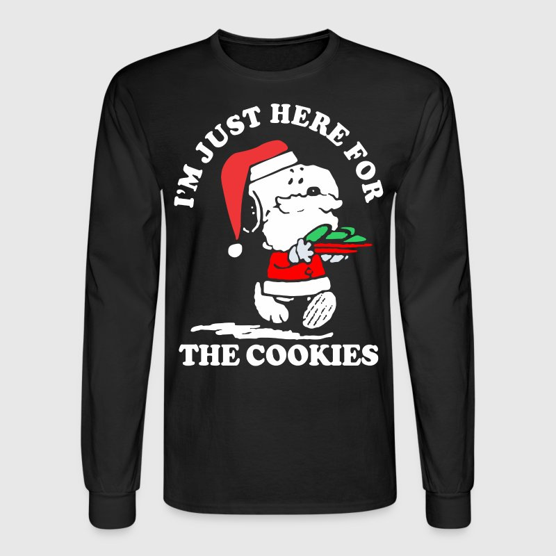 Im Just Here For The Cookies Christmas - Men's Long Sleeve T-Shirt