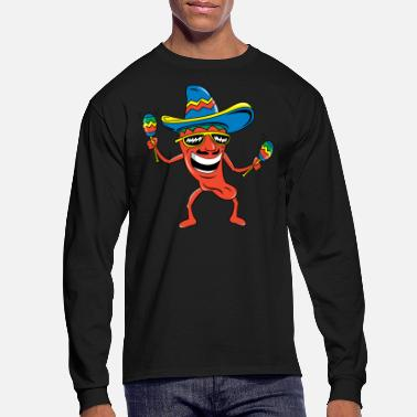 Chili Mexican Chili Pepper - Men's Long Sleeve T-Shirt