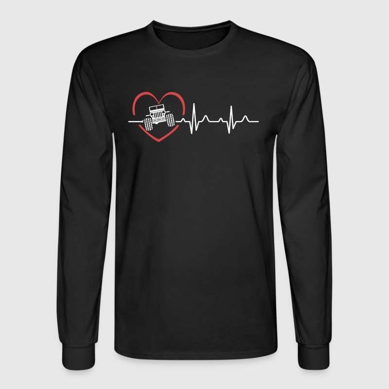 Jeep Heartbeat Shirts - Men's Long Sleeve T-Shirt