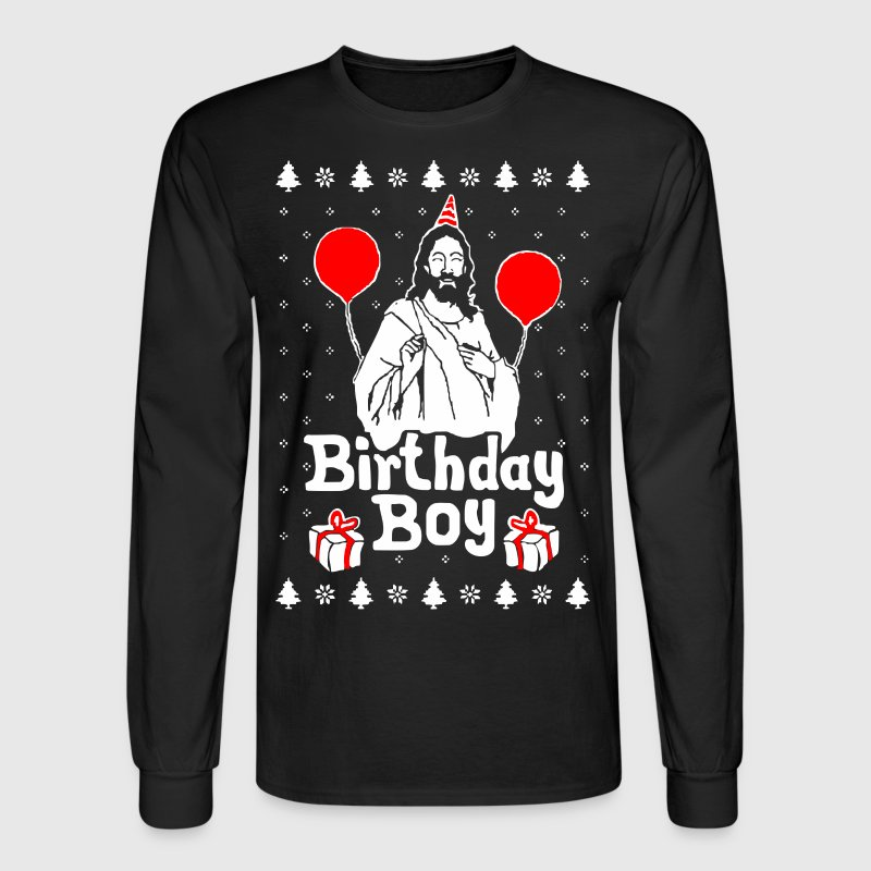 Birthday Boy Jesus Christmas - Men's Long Sleeve T-Shirt