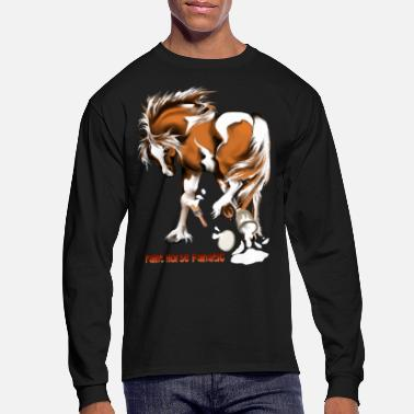 Latex Paint Horse Fanatic - Men's Long Sleeve T-Shirt