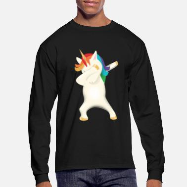 Retirement Dabbing Shirt Funny Dabbing Unicorn Cute T Shirt - Men's Longsleeve Shirt