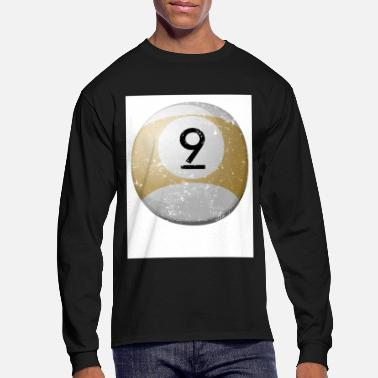 Billiard Ball Personalized Billiard Balls 9 Large Billiard Balls - Men's Long Sleeve T-Shirt