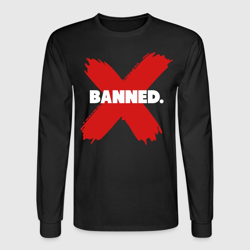 Banned Retro 1 Jordan Shirt - Men's Long Sleeve T-Shirt