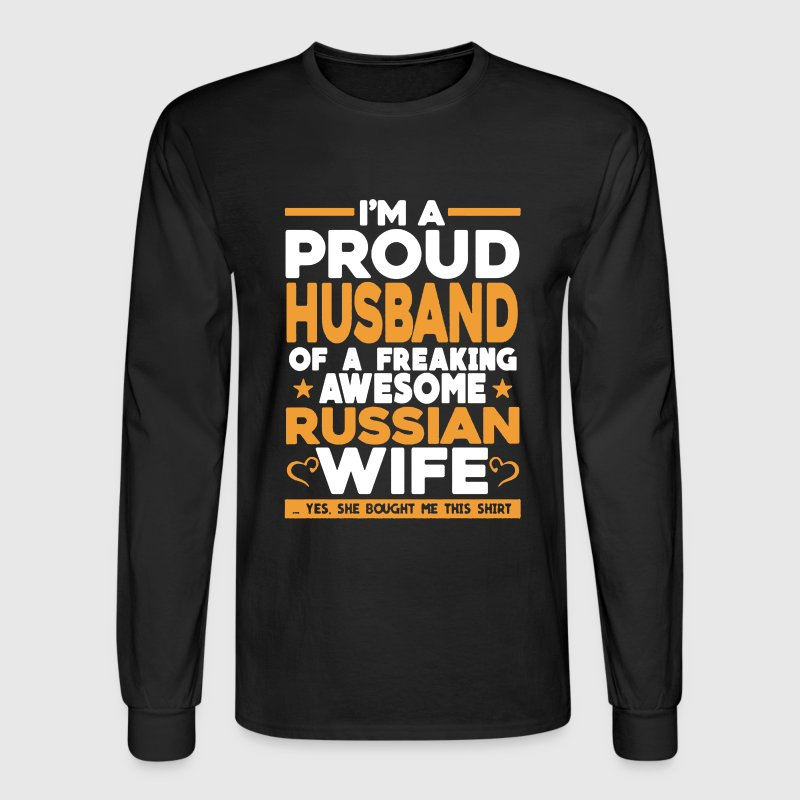 Proud Husband Of Russian Wife - Men's Long Sleeve T-Shirt