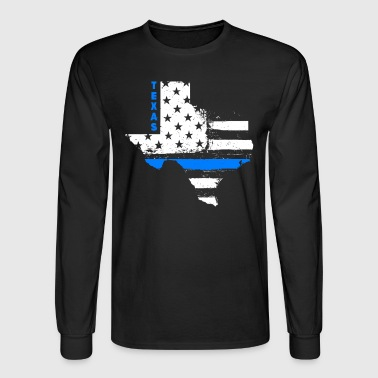 Texas Thin Blue Line - Men's Long Sleeve T-Shirt