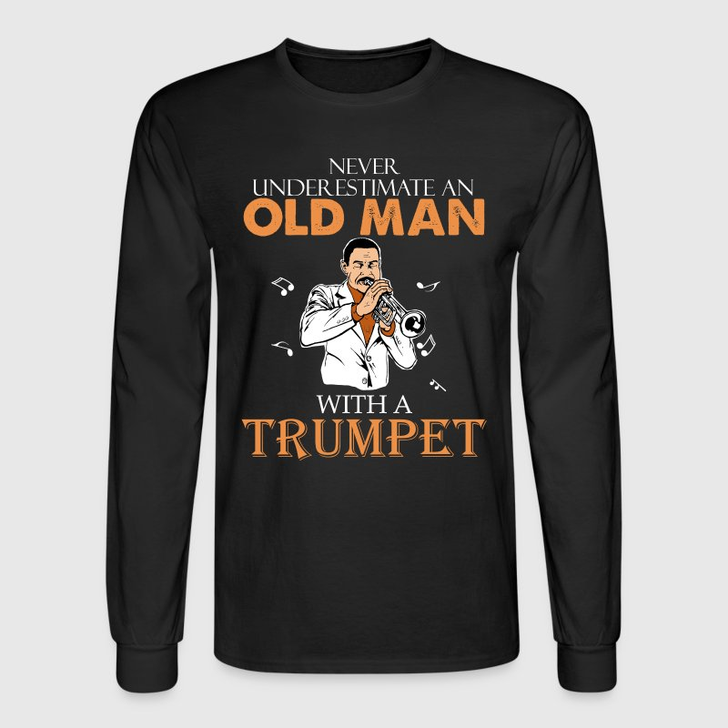 Old Man With Trumpet - Men's Long Sleeve T-Shirt