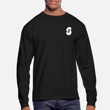 Long SPACEY WHT LOGO LONG SLEEVE - BLK - Men's Longsleeve Shirt