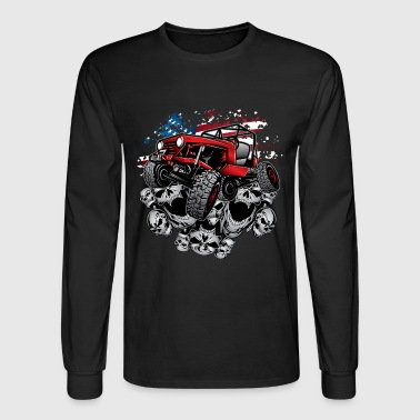 Jeep Wrangler Crawler Red - Men's Long Sleeve T-Shirt