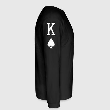 King of Spades Vector - Men's Long Sleeve T-Shirt