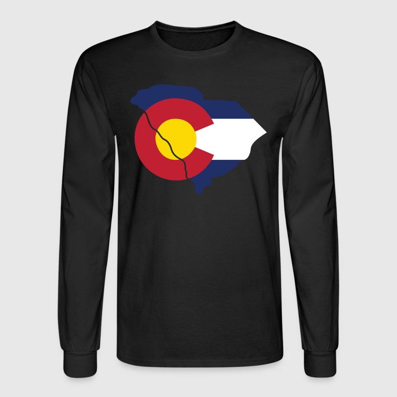 South Carolina Colorado Funny Pride Flag Apparel - Men's Long Sleeve T-Shirt