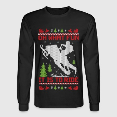 Fun Snowmobile Christmas Fun - Men's Long Sleeve T-Shirt