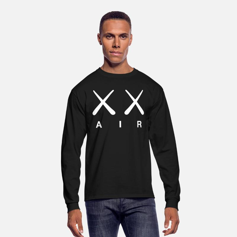 Nike's Long sleeve shirts - Kaws Air - Men's Longsleeve Shirt black