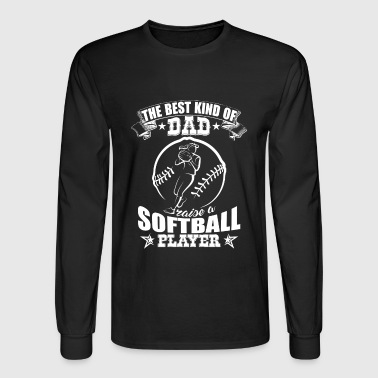 Proud Dad Of A Softball Player - Men's Long Sleeve T-Shirt