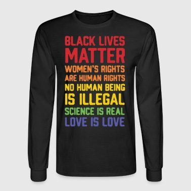Black lives matter women's rights are human right - Men's Long Sleeve T-Shirt