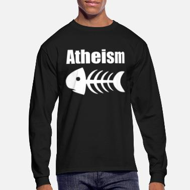Atheism Atheism Fish Skeleton - Men's Long Sleeve T-Shirt