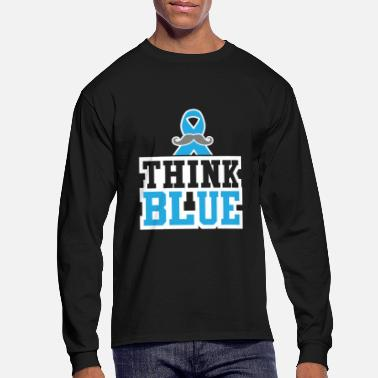 Suck Think Blue Prostate Cancer Cancer Tee - Men's Long Sleeve T-Shirt