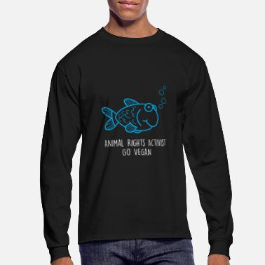 Animal Rights Activists Animal Rights Activist Vegan Tshirt - Men's Longsleeve Shirt
