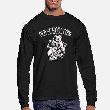 Old School Old School Code - Men's Long Sleeve T-Shirt