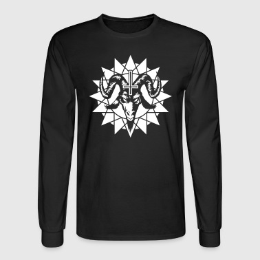 Satanic Goat Head with Chaos Star (inverted) - Men's Long Sleeve T-Shirt