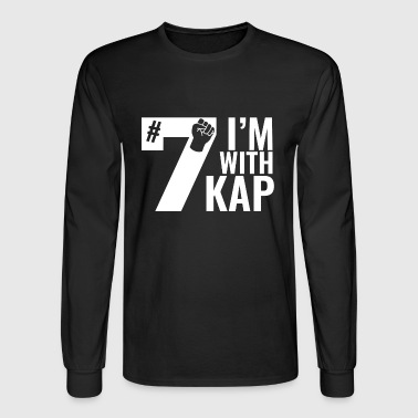 Take A Knee I Am With Kap Shirt Nr 7 2nd - Men's Long Sleeve T-Shirt