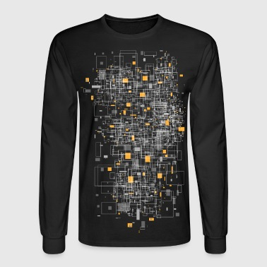 squares sqared designer graphic - Men's Long Sleeve T-Shirt