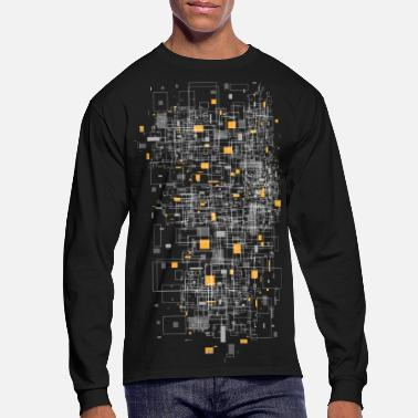 Graphic squares sqared designer graphic - Men's Long Sleeve T-Shirt