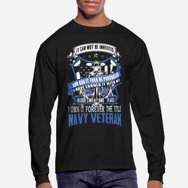 Navy Navy Veteran Shirt - Men's Long Sleeve T-Shirt