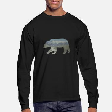 Grizzly Grizzly Bear in the mountains brown bear Wild Gift - Men's Long Sleeve T-Shirt