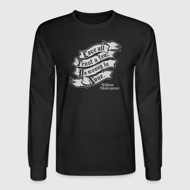 Shakespeare On Love - Men's Long Sleeve T-Shirt