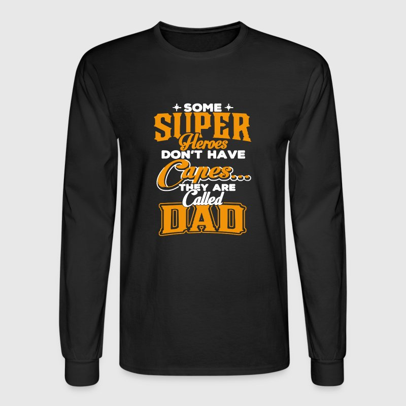 Dad Superhero Shirt - Men's Long Sleeve T-Shirt