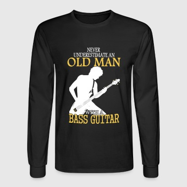 Old Man With Bass Guitar - Men's Long Sleeve T-Shirt