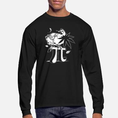 Pi Chicken Pot Pi - Men's Long Sleeve T-Shirt