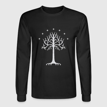 White Tree of Gondor (marble) - Men's Long Sleeve T-Shirt