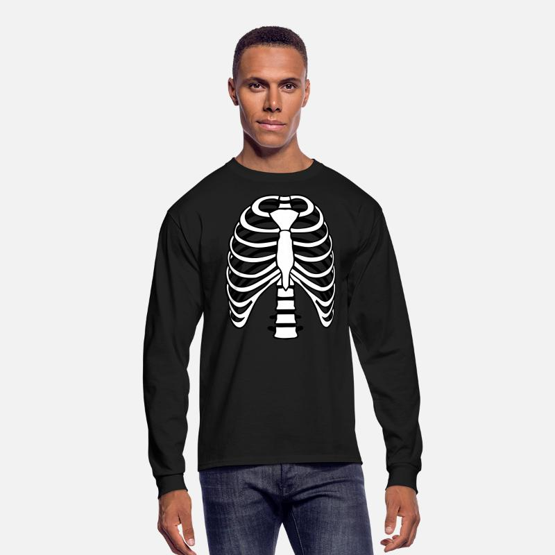 Halloween Long sleeve shirts - Ribs - Solid - Men's Longsleeve Shirt black
