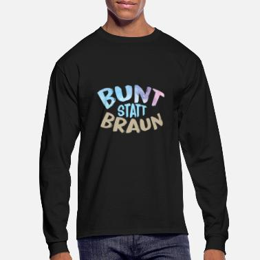 Against Against racism - Men's Long Sleeve T-Shirt