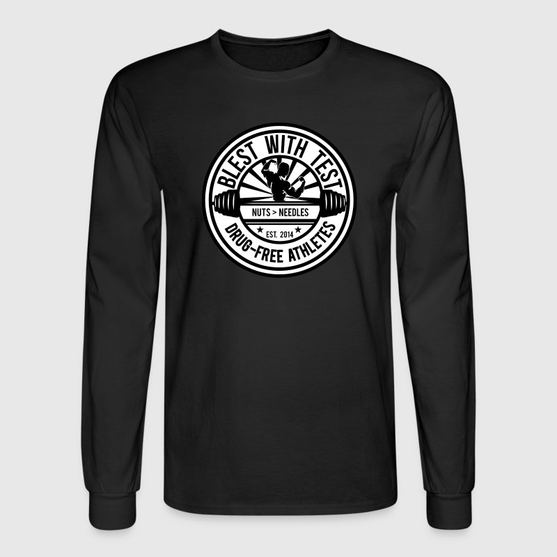 Blest With Test Logo - Men's Long Sleeve T-Shirt