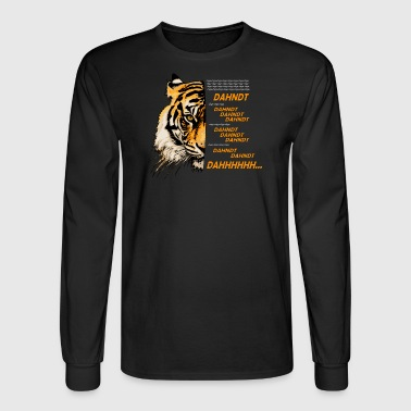 Eye of the Tiger (White Text) - Men's Long Sleeve T-Shirt