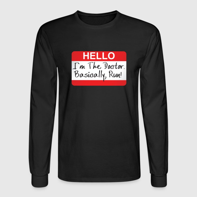 Doctor Who - Hello I'm The Doctor - Men's Long Sleeve T-Shirt