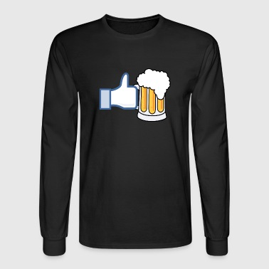 Like Beer - Add Your Own Text - Color - Men's Long Sleeve T-Shirt