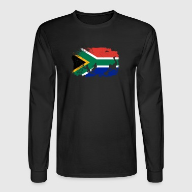 Rugby South African flag rugby fan T-Shirt - Men's Long Sleeve T-Shirt