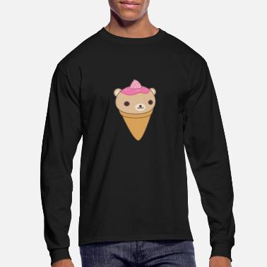 Ice Ice Cream Bear - Men's Longsleeve Shirt