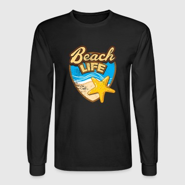 Fun Beach Life Starfish fun holiday gift - Men's Long Sleeve T-Shirt