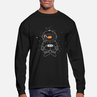 Goldfish Astronaut with goldfish  - Men's Long Sleeve T-Shirt
