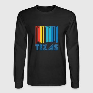 Retro Fort Worth Texas Skyline - Men's Long Sleeve T-Shirt