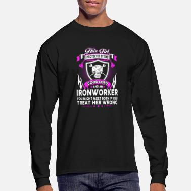 Ironworker This Girl Is Protected By Ironworker - Men's Long Sleeve T-Shirt